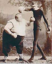 Victoriano curiosidad Boxeo Grasa skinny hombre Circo Sideshow Freakshow Freak Show