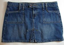 l.e.i. Denim Mini Skirt life energy intelligence Blue Utility Gear Size 11