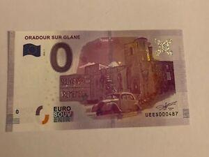 BILLET TOURISTIQUE 0 EURO ZÉRO EURO ORADOUR SUR GLANE