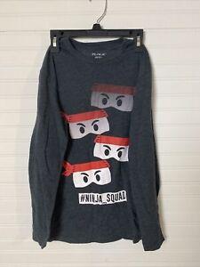 THE CHILDREN'S PLACE Graphic Print Ninja Squad Shirt Long Sleeve Large 10/12