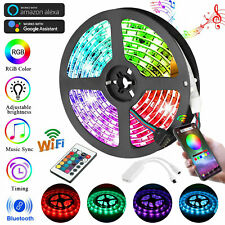 16.4Ft 5050 SMD RGB WIFI Wireless Strip Light 150LED Alexa Smart Home Waterproof