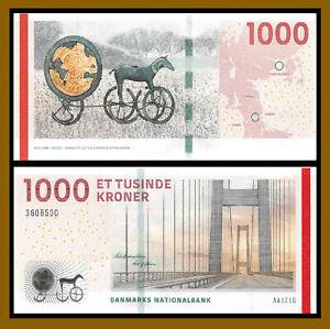Denmark 1000 (1,000) Kroner, 2012 P-69b Bridge Serie Unc