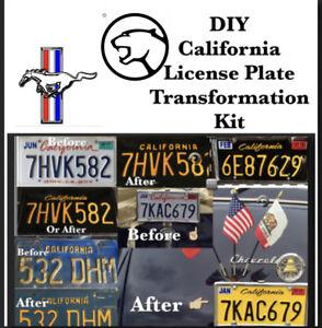 DIY CALIFORNIA Legacy License Plates ford mustang mercury cougar