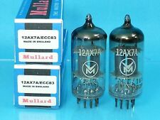 MULLARD 12AX7 ECC83 VACUUM TUBE 1962 MATCHED PAIR WARM SWEET ENGLISH BEER PUB