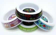 SET OF 4 Decorative Cat Kitten Melamine Food Water Bowls Dishes NEW Colorful