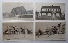 Cape Cod Style House Vintage Snapshot Photographs Under Construction & Finished