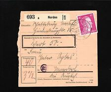 Germany Hitler Definitive THREE DIFFERENT Paket Package Cards 1944 & 1945 a 1y