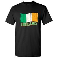 Irish Flag Sarcastic Cool Graphic Gift Idea Adult Humor Funny T Shirt