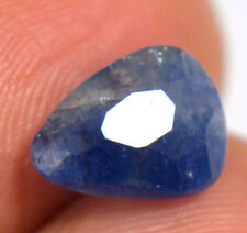 AGSL Certified 2.95 Ct 100% Natural Ceylon Blue Sapphire Untreated Pear Cut Gem
