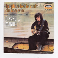 45 TOURS SP GERARD MANUEL LA PLUS BELLE NUIT DE MA VIE VOGUE V 45 27019 en 1972