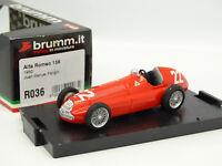 Brumm 1/43 - Alfa Romeo 158 1950 Fangio R036