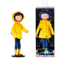 """7"""" Bendy Coraline PVC Action Figure  Model Doll Yellow Raincoat Ver F Collection"""