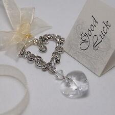 Wedding Good Luck Charm Bridal Keepsake - Unique Aussie Crystal Heart Design