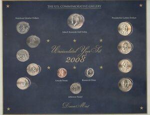2008 U.S. Commemorative Gallery Uncirculated Year Set 2008 + Denver Mint