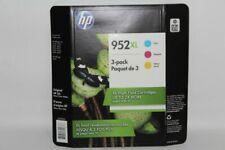 NEW HP 952XL High-Yield Cyan/Magenta/YellowJaune Ink Cartridges EXP: 11/2021