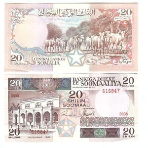 Somalia - 20 Shilin 1989 aUNC / UNC Pick 33d Lemberg-Zp