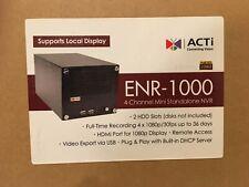Acti Enr 1000 4 Channel Mini Standalone Nvr New