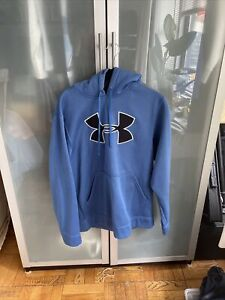 Under Armour Hoodie BIG LOGO Pullover Hooded sweatshirt jacket Small Excellent