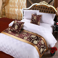 Vintage Polyester Bed Runner Bedding Scarf Bedroom Decor for Hotel Home Floral