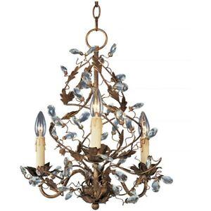 Maxim Lighting Elegante 3-Light Chandelier Etruscan Gold - 2850EG