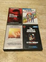 Lot of 4 cassette tapes  STOP SMOKING  Subliminal ~ Self-Hypnosis - Tapering Off