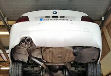 "BMW 525D ( E60 / E61 ) Rear silencer delete pipe - Twin 3"" Black chrome tail A"