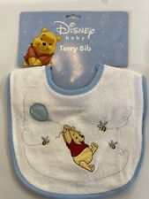 2 pack Disney Winnie the Pooh Blue Baby Bib