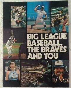 1976 Atlanta Braves Player Welcome Brochure RARE VHTF Aaron Niekro