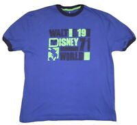 Walt Disney World Parks Retro Large T-Shirt Blue With Mickey Mouse 1971