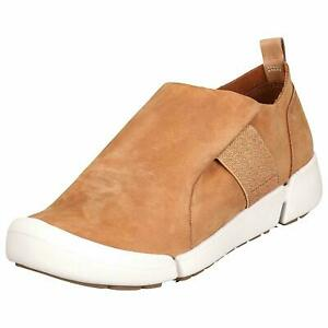 Clarks BNIB Ladies Shoes TRI LILY Tan Nubuck UK 7 / 41 Trigenic