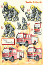 Craft UK A4 Die Cut Decoupage Sheet Line 722 - At Your Service - Fire Brigade