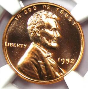 1952 Proof Lincoln Wheat Cent Penny 1C Coin - NGC PR68 RD (PF68) - $1,500 Value!