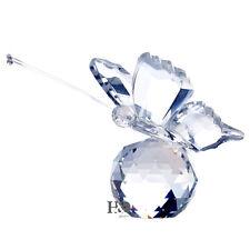 H&D Kristallfigur Klar Schmetterling Dekorglas Briefbeschwerer Hochzeit Geschenk