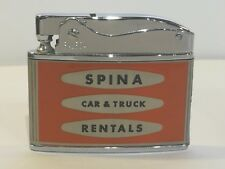 Flat Advertising Lighter Spina Car and Truck Rentals Made In Japan