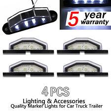 4x REAR 3 LED LICENSE NUMBER PLATE LIGHT LAMP TRUCK CARAVAN TRAILER 12V / 24V