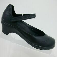 Aravon Women's Mary Jane Shoes Block Heel by New Balance Maya Size 7 B Black