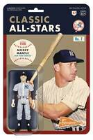 MLB CLASSICS New York Yankees MICKEY MANTLE  REACTION 3.75 inch figure SUPER 7