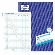 Avery Zweckform Kassenbuch 426 Kassenbericht 427  428