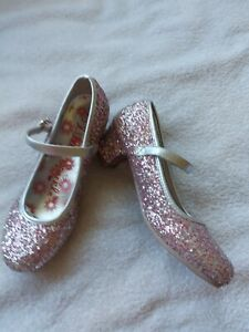 Girl's Lilley Sparkle Silver & Pink Mary Jane Style Shoes Size 1