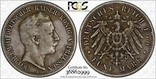 1900-A Prussia Germany 5 Mark World Silver Coin KM #523 PCGS Gold Shield VF 30
