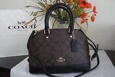 NWT Coach F58295 Signature Mini Sierra Satchel  Crossbody Handbag  Brown/Black
