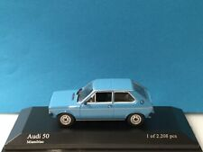 Minichamps 1:43 Audi 50 1975 Blue Modell Nr: 430 010401