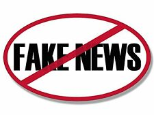 3x5 inch Oval No FAKE NEWS Bumper Sticker - pro trump anti main stream media msn