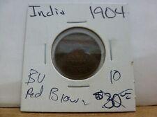 1904 British India 1/2 Pice Copper Coin