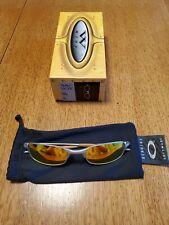 Oakley Sunglasses 05-687 Square Wire 2.0 Silver Fire Iridium w/ box