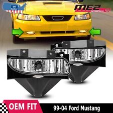 For Ford Mustang 1999-2004 Factory Bumper Replacement Fit Fog Lights Clear Lens