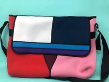 Mondrian Colorblock Neoprene Messenger Bag