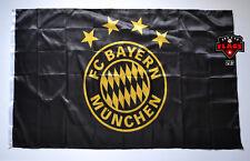 Bayern Munich Flag Banner 3x5 ft Germany Soccer München Black Gold Premium