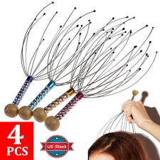 4 Pcs Head Massager Scratcher Scalp Neck Release Relax Stress Massage Octopus