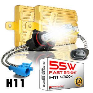 55W H8 H9 H11 4300K Heavy Duty Fast Bright AC Digital HID Xenon Conversion Kit